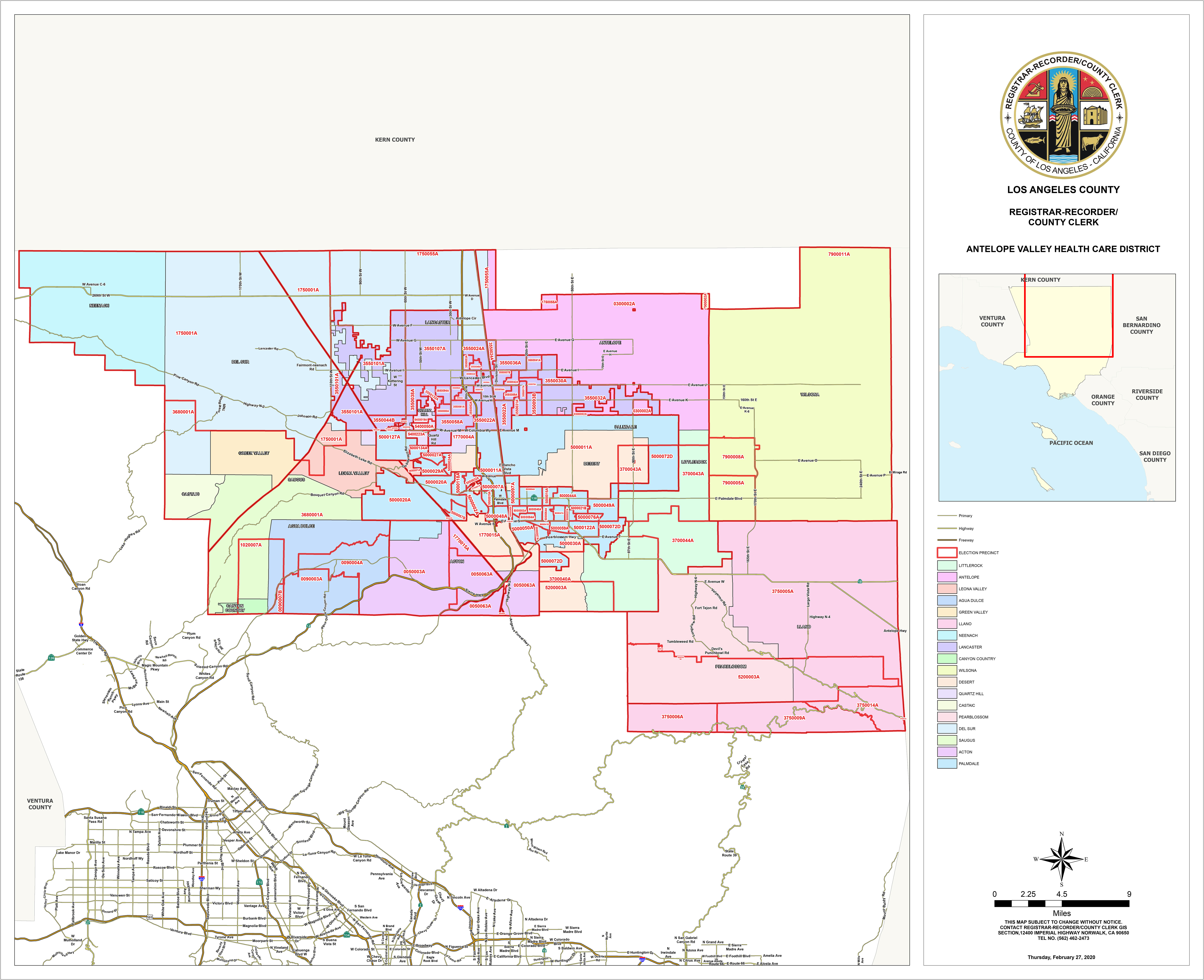 Antelope Valley Health Care District Map
